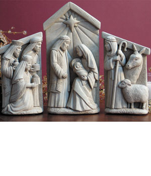 A Stable In Bethlehem Set of the Nativity Statue or Plaque