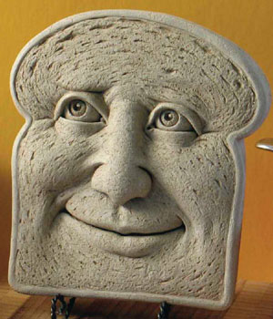 Nice To Be Kneaded Bread Wall Plaque Sculpture