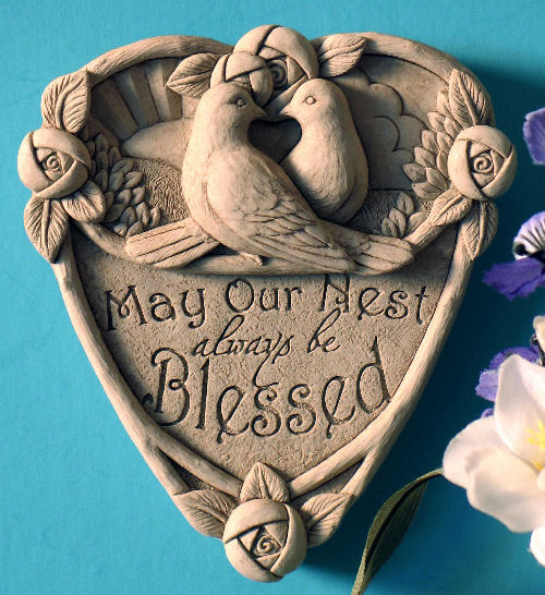 Our Nest Wall Plaque Says May Our Nest Always be Blessed