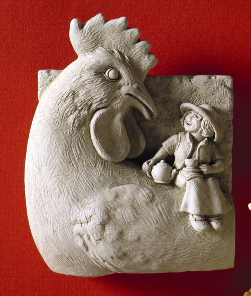 Chick Chat Wall Plaque Sculptural Decor