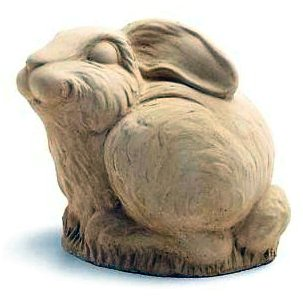 Little Stone Bunny Sculpture By stone Carver Carruth