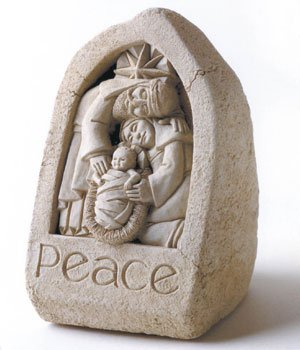 Child Of Peace Sculpture By Carruth Nativity Stone