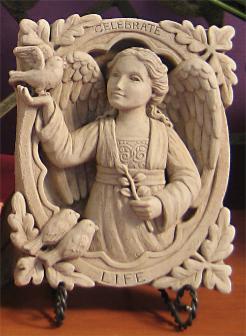 Celebrate Life Angel Wall Plaque Statue