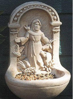 Saint Francis Birdfeeder Wall Decor Sculpture