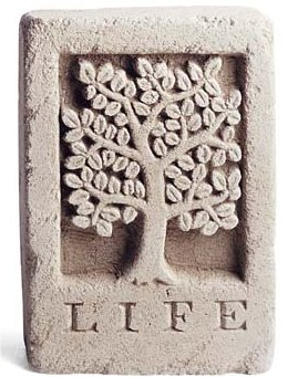 Tree Of Life Stone Wall Plaque or Sculpture