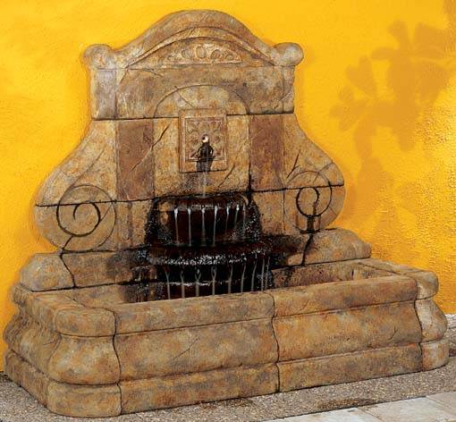 Fleur De Lis Grand Wall Fountain as seen in France