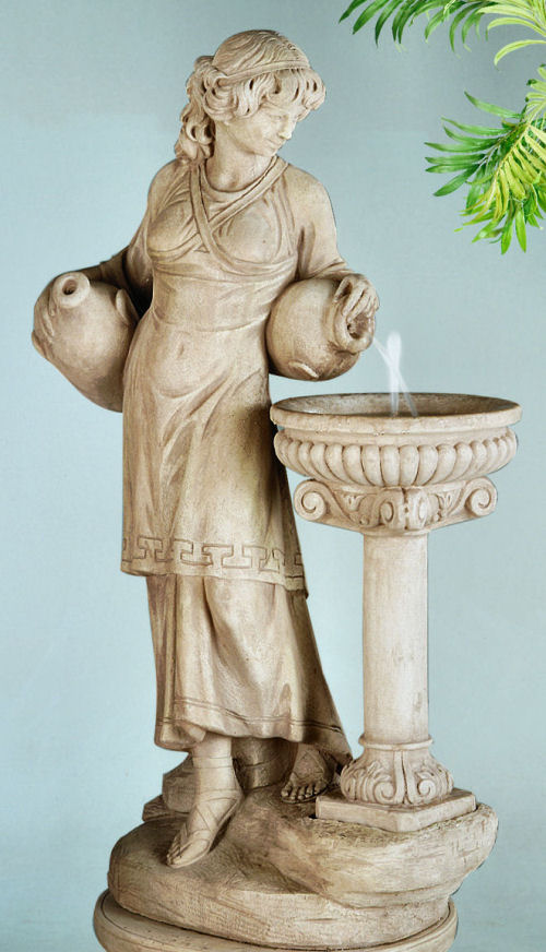 Angella Statue With Bowl Birdbath