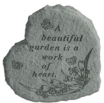 Beautiful Heart Shaped Garden stepping Stone