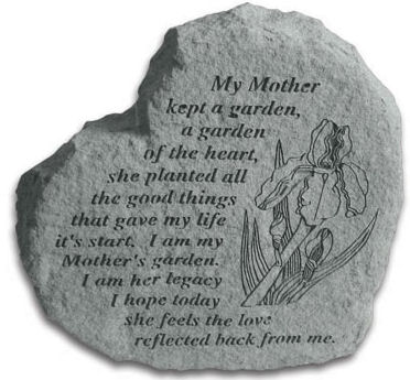A Mothers Legacy Garden heart shaped stone