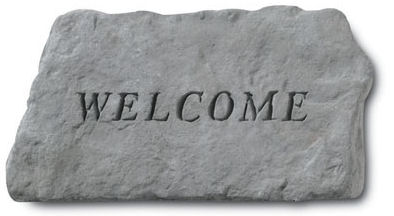 Welcome Garden Stone Sculpture or Wall Hanging