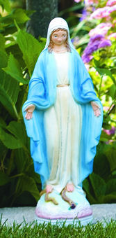 Blessed Mother Mary Garden Sculpture Colored H
