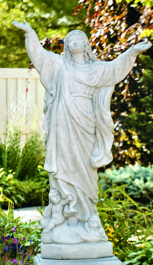 Assumption Of Mary Life-size Outdoor Statuary