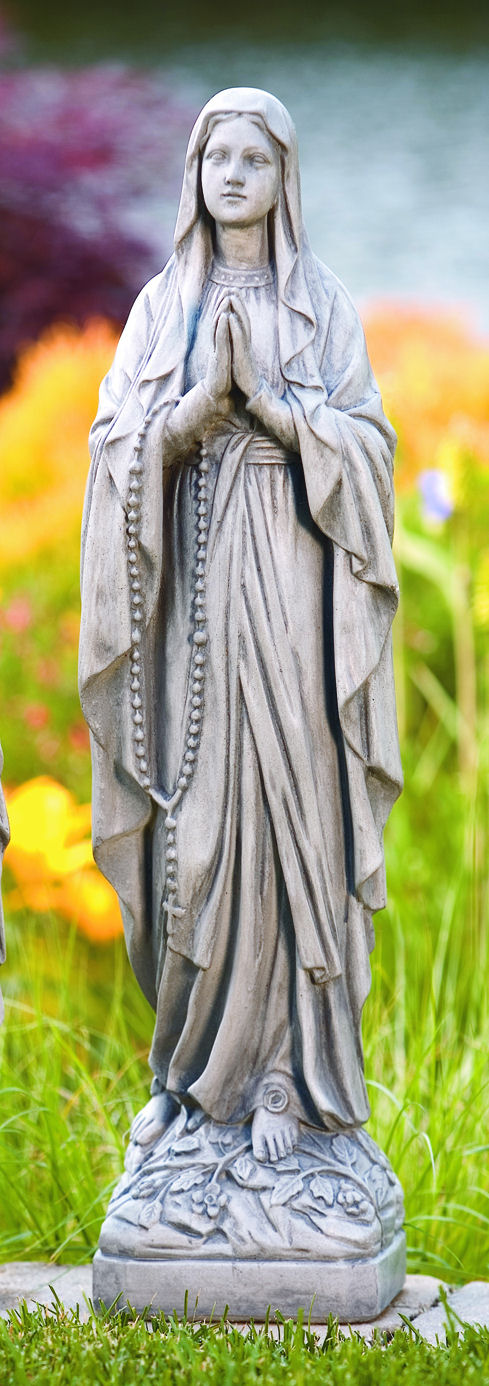 Blessed Virgin Mary to a poor Statues Our Lady of Lourdes