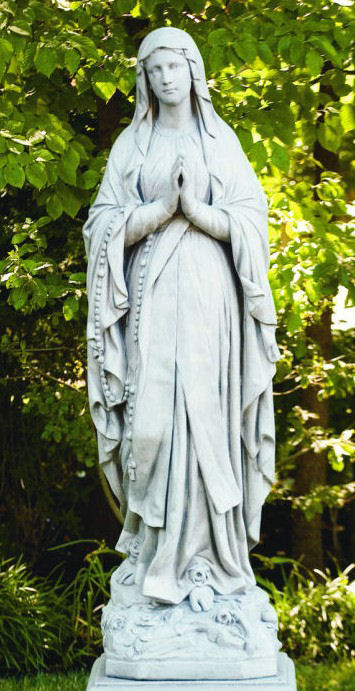 Life- Size Our Lady of Lourdes Garden Sculpture Stone