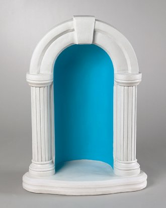Arched Grotto for Statuary For 18 Statues