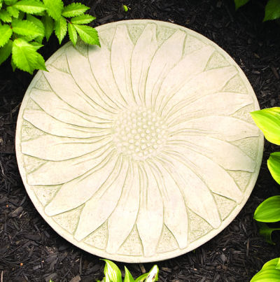 Sunflower Stepping Stone Optional Wall Display