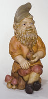 Classical Sitting Pipe Gnome Garden Figurine