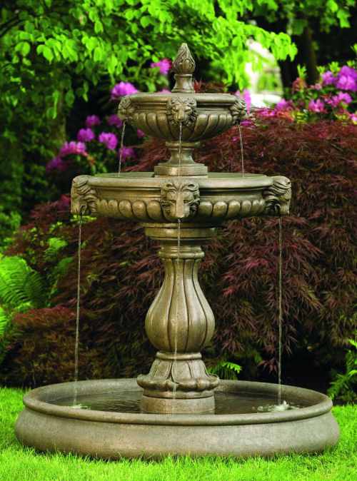 Classic Lion Head Garden Fountain With Pool