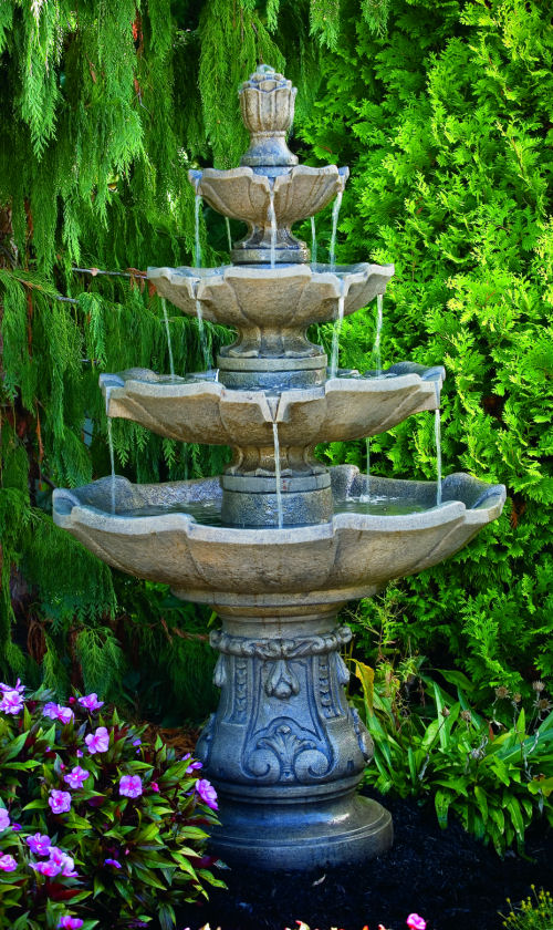 Large Scale Classic Four Tier Fountain for Home and Garden