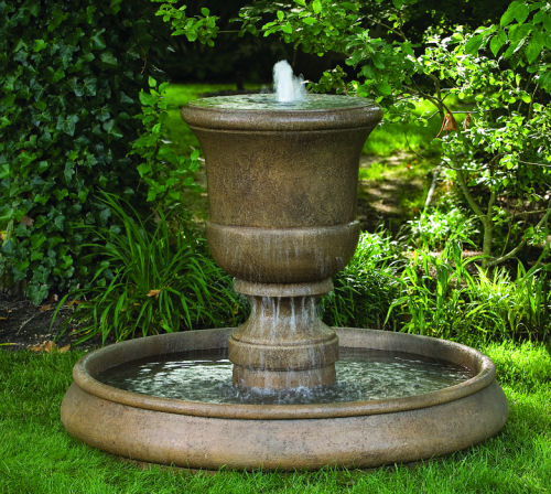 Cento Urn On Classic Pool Fountain Choice of Finish