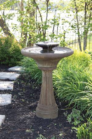Two Tier Chelsea Fluted Fountain with LED Light