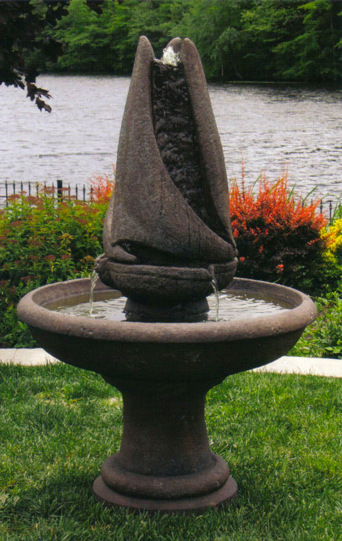 Sailing Garden Fountain Contemporary Sculpted Sail Modern