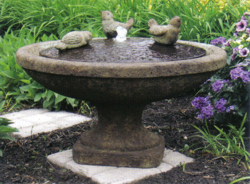 Singing Birds Oval Bowl Fountain With Light