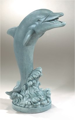 Flip The Dolphin Plumbed Water Feature