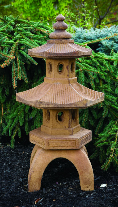 Bamboo Two Tier Temple Pagoda Asian Sculpture