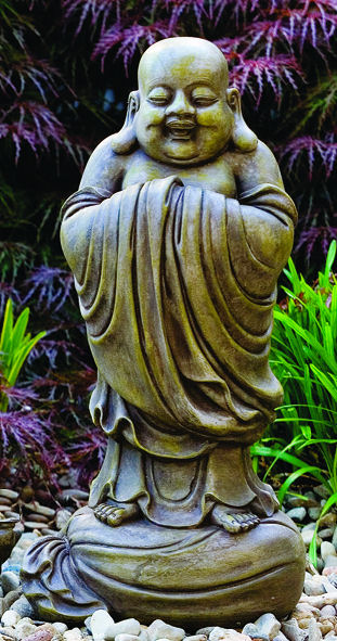 Laughing Hotei Buddha Sculpture God of Happiness and Joy