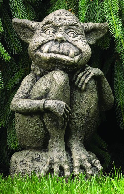 Ollie Ogre Large Garden Sculpture Cast Stone