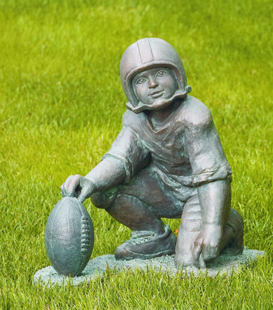 Field Goal Holder Football Sculpture Cement Garden Decor