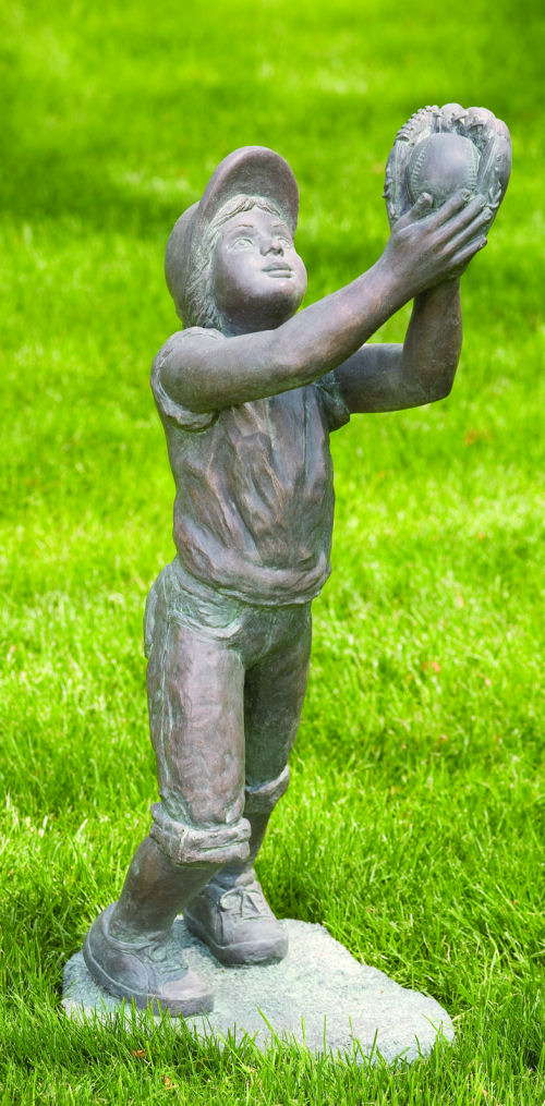 Softball Player Outfielder Large Girl Statue
