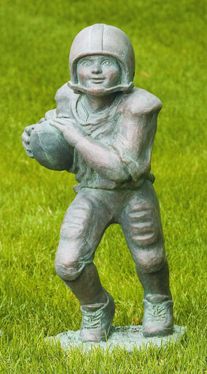 Football Player Running Back Boy Sculpture Large