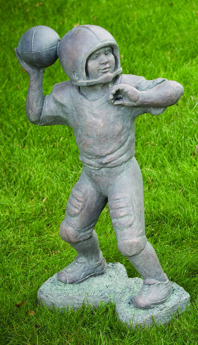 Quarterback Football Player Large Garden Sculpture