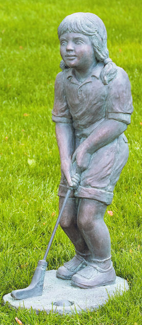 Golfer Girl Large Scale Garden Sculpture