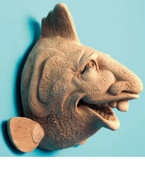 Schools Out Fish Sculptural Wall Plaque