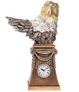 Eagle Bust Statue With Clock