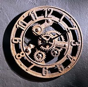 Arabic Gear Clock Small  Decorative Wall Hanging