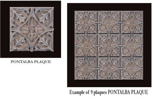 Decorative Pontalba Wall Plaque