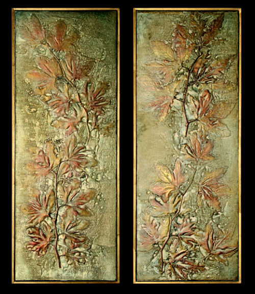 Exhibition Maple Leaf Frescos Bas-Reliefs Wall Hangings