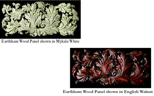Eartham Panel of Swirling Florentine Leaves Wall Hanging