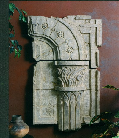 Corinthian Column Fragment Sculptural Wall Décor