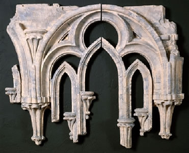 Arched Gothic Window Tracery Fragment Wall Decor 2 Pc