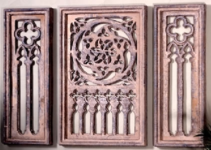 Ancient Celtic Grille Three Piece Set Wall Decor