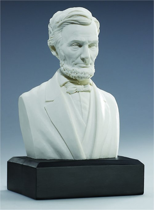 Abraham Lincoln Bust Portrait White Sculpture