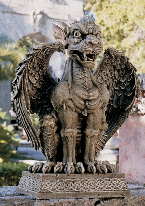 boden gargoyle sentinel sculpture. Black Bedroom Furniture Sets. Home Design Ideas