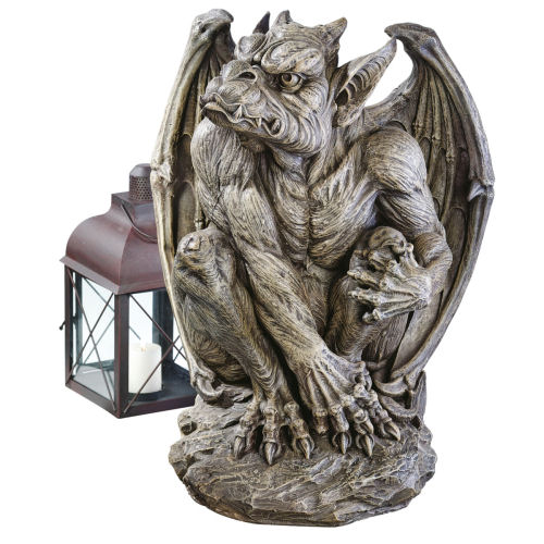 Silas the sentry gargoyle sculpture for Gargoyle decor