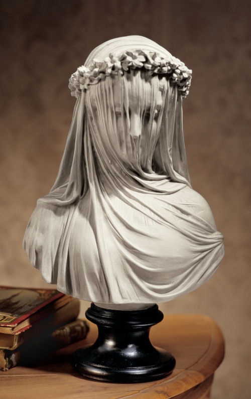 The Bride, Veiled Maiden Statue Bust