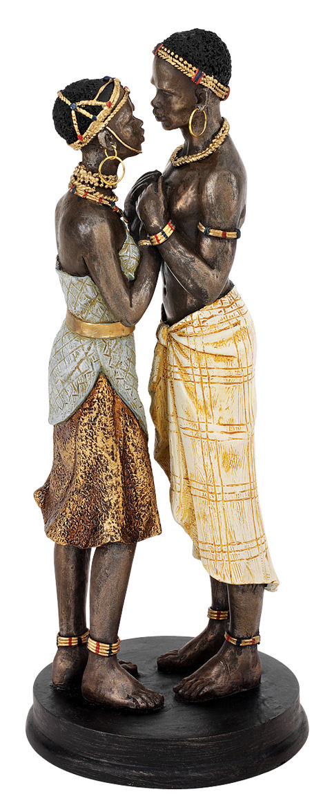 Body And Soul African Lovers Sculpture